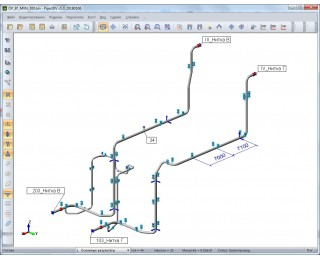 просмотра расчетной модели и результатов расчета в программе PIPE3DV